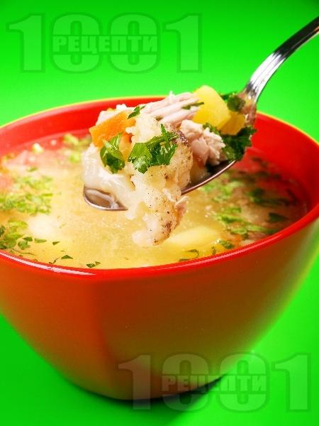 Супа от пиле, карфиол и целина - снимка на рецептата